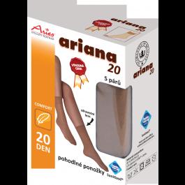 ARIANA 20 - pohodlné ponožky, 5 párů v krabičce
