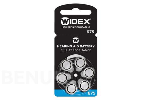 Baterie do naslouchadel Widex 675, 6ks