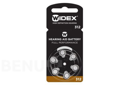 Baterie do naslouchadel Widex 312, 6ks