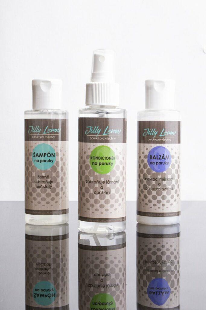 Sada na paruky - šampón, balzám, kondicionér/nebo lak