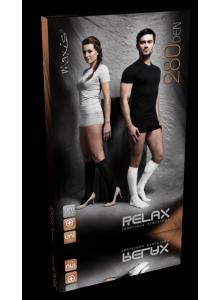 Maxis relax-lýtkové podkolenky 280 den s bavlnou - černé