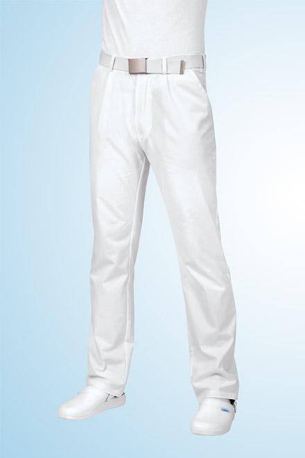 Kalhoty lékařské bílé - pánské