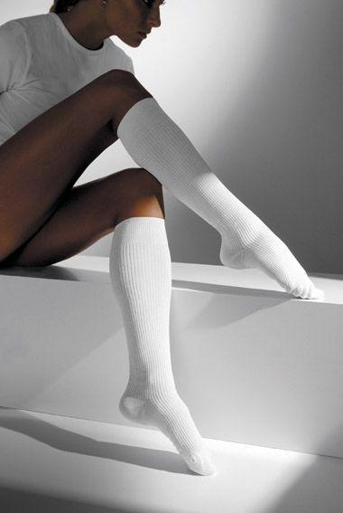 Maxis relax-lýtkové podkolenky 280 den s bavlnou - bílé